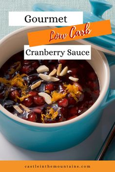 Low Carb Cranberry Sauce Recipe - Gourmet Recipe with 4 Net Carbs Paleo Recipes, Gourmet Recipes, Lchf, Keto, Fresh Cranberries, Paleo Whole 30, Healthy Lifestyle Tips, Cranberry Sauce, How To Eat Paleo