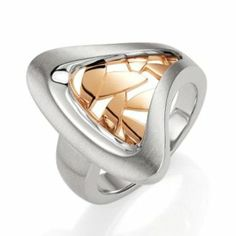Sterling Silver and Rose Gold Overlay Ring