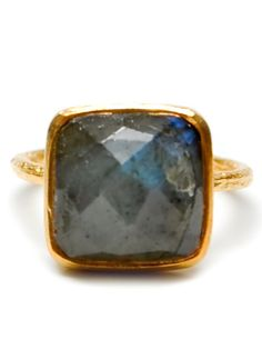 Labradorite Facet Ring from Leif Shop