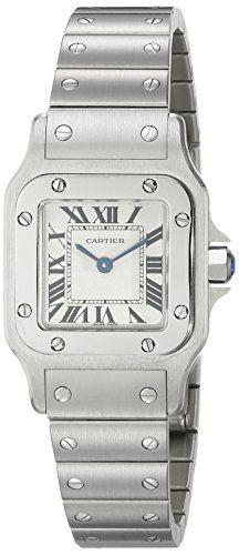 Cartier Womens W20056D6 Santos Stainless Steel Casual Watch * You can find out more details at the link of the image.