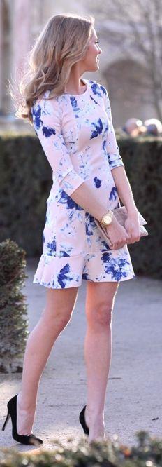 Zara Light Pink Floral Little Dress by Make Life Easier