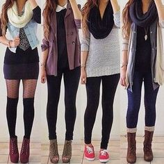 The last three outfits to the right are great for school and are the most appropriate for kids!!!!