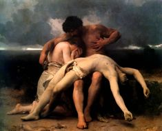 The First Mourning, 1888, William-Adolphe Bouguereau Size: 203x252 cm Medium: oil, canvas