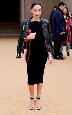 Always a wardrobe staple. Black midi dress Fall'2014 via @WhoWhatWear