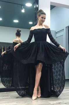 Off Shoulder Pink Lace High Low Prom Homecoming Dresses Long Sleeves Prom Dress Long Prom Dress Fancy Prom Dresses, Long Sleeve Homecoming Dresses, Inexpensive Prom Dresses, Discount Prom Dresses, Elegant Bridesmaid Dresses, High Low Prom Dresses, Prom Dresses With Sleeves, Lace Dresses, Dress Formal