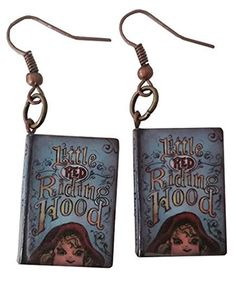 Little Red Riding Hood Story Book Dangle Earrings $12.99  Created and sold exclusively by Lil Miss Marmalade