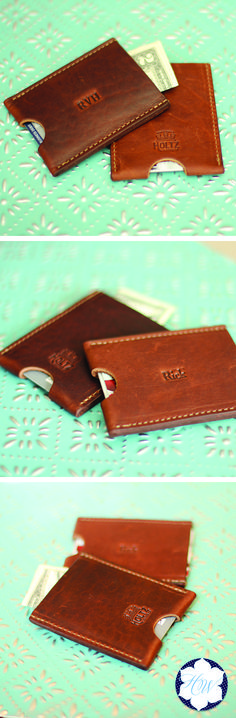 The Jefferson Fine Leather Card Holder Wallet is a great minimalist wallet. It is handmade right here in our shop with the finest of Full Grain American leathers. We hand pick our leather hides from a local tannery ~ for a rustic look and feel. The side can be personalized with a special message, name, or initials. It is a timeless item you'll love for years to come!