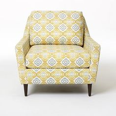 Everett Armchair - Prints #WestElm (buttercup fabric) (we need something fun to spice it up)