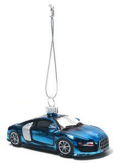 Audi R8 Blown Glass Ornament