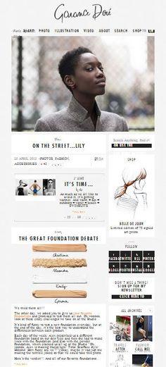Garance Dore #website #design