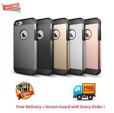Apple-iPhone-6-6s-Case-Cover-ROSE-GOLD-APPLE-CASE-Free-Screenguard-Spigen