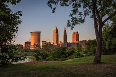 Sunset In Cleveland Ohio by Dale Kincaid