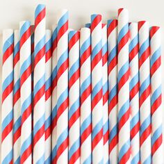 Paper Straws: Red/Bl