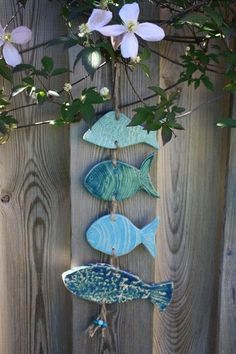25 ingenious craft ideas for DIY gifts for Christmas - Pottery Ideas - Fish Crafts, Beach Crafts, Clay Crafts, Diy And Crafts, Seashell Crafts, Ceramics Projects, Clay Projects, Ceramic Art, Ceramic Pottery