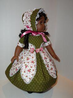 1850's Historical Dress for American Girl Dolls by SewChicByShawna, $40.00 (I think it's Farmcookies pattern, Petal Dress)