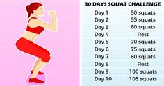 30- Day Squat Challenge That Can Help You Get the Butt of Your Dreams