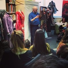 Director of the Costume Collection, Stephen Cabral, leading a tour of our facility for our guests from GO Broadway