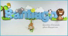 """Gracinhas Artesanato: Decoração """"Safari"""" para o quarto do Santiago"""