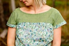 The Waterfall Blouse Women's Summer Top Pattern by braidcraft