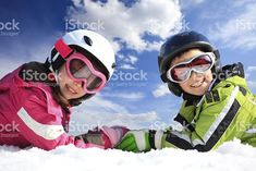 Children in ski clothing royalty-free stock photo