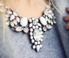 White Statement Necklace #Colgate #OpticWhite #WeddingMonth http://bit.ly/1lc9DHM