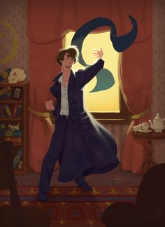 """jamesdaviscourt: """" Come Watson, the game is afoot (again)!! Here is my completed full color Sherlock illustration! I like to hide little easter eggs throughout my work–see if you can find all of the..."""