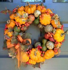 Front Door Fall Wreath Craft Ideas