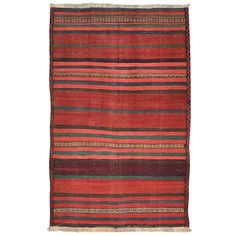 Afghan Baluch Kilim Rug | From a unique collection of antique and modern central asian rugs at https://www.1stdibs.com/furniture/rugs-carpets/central-asian-rugs/