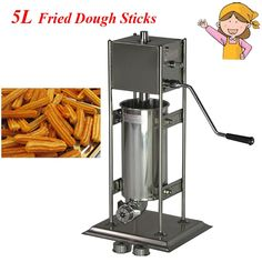 216.15$  Watch here - http://alijwe.worldwells.pw/go.php?t=32705144021 - Commercial Electric Vertical Type Spain Churros Extruder Machine Fried Dough Sticks/ Spain Snacks Latin Fruit Maker BG-5L 216.15$