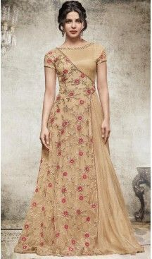 Looking for Bollywood Anarkali Suits for functions & parties? We provide Bollywood Designer Salwar Kameez & Bollywood Replica Suits with various designs. Anarkali Bridal, Anarkali Dress, Designer Gowns, Indian Designer Wear, Designer Anarkali, Indian Gowns, Indian Outfits, Priyanka Chopra, Net Gowns