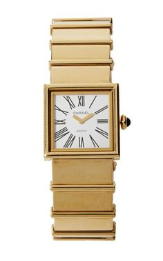 Vintage Chanel 18K Yellow Gold Watch by What Goes Around Comes Around for Preorder on Moda Operandi