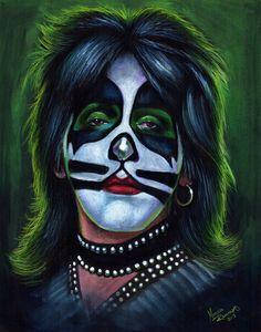 Caricature-Peter Criss from Kiss Peter Criss, Paul Stanley, Pochette Cd, Gene Simmons Kiss, Kiss Rock Bands, Kiss Members, Vintage Kiss, Kiss Art, Hot Band
