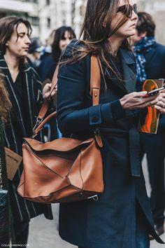 Pfw Paris Fashion Week Fall 2016 Street Style Collage Vintage Loewe Puzzle