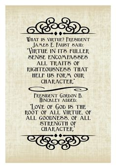 June 2015 VT Divine Attributes of Jesus Christ: Virtue