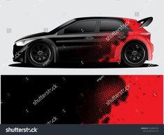 Rally Car Decal Graphic Wrap Vector Stock-Vektorgrafik (Lizenzfrei) 1525002125 for girls Pagani Zonda, Lamborghini Gallardo, Mazda 3 Hatchback, Vw Gol, Jeep Decals, Bugatti, Ford Fiesta St, Peugeot, Suzuki Swift