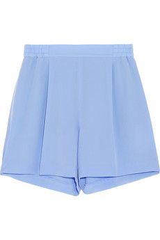 Stella McCartney Zanda silk crepe de chine shorts | NET-A-PORTER