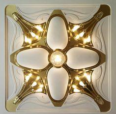 Henry van de Velde. Villa Esche. Ceiling light fixture.