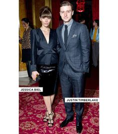 WHO: Jessica Biel, actress, and Justin Timberlake, actor/singer in Tom Ford