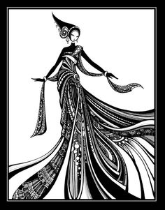 Kiera in Black and White Art PRINT by Tienne Rei