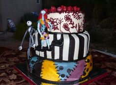 Jack and Sally CAKE that I want for Jayden! He turns 4 in a couple of weeks and he LOVES Jack and Sally!