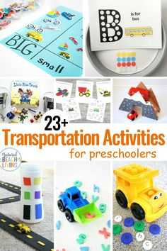 Transportation Theme Preschool Crafts, Activities and Printables - Natural Beach Living Transportation Preschool Activities, Preschool Learning Activities, Sorting Activities, Preschool Themes, Preschool Crafts, Toddler Activities, Transportation Unit, Playdough Activities, Kindergarten