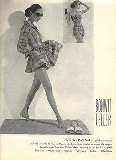 Bonwit Teller Silk Prism Beach Wear 1959