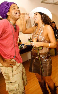 Carlinhos Brown e Daniela Mercury (2007) Foto: Paulo Freitas