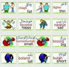 . English Vocabulary Words, Learn English Words, English Grammar, Persian Language, Arabic Language, Farsi Alphabet, Learn Farsi, Learn Persian, Increase Knowledge