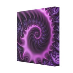 Vivid Abstract Cool Pink Purple Fractal Art Spiral Canvas Print - girly gifts special unique gift idea custom