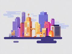 Webdesign talk - XHTML CSS, Graphic Design tutorials and Inspiration Building Illustration, Flat Design Illustration, Illustration Vector, City Illustration, Medical Illustration, Web Design, Graphic Design Tutorials, Vector Design, Vector Art