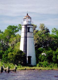 Tchefuncte River Lighthousenorthern shore of Lake Pontchartrain south of Madisonville Louisiana US30.379639, -90.168925