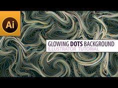 Create Glowing Dots Background in Adobe Illustrator Typography Design, Logo Design, Adobe Illustrator Tutorials, Graphic Design Tips, Design Programs, Dots, Design Inspiration, Video Tutorials, Drawings