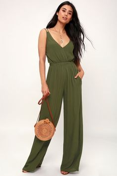 f605eb8031a Wandering Spirit Olive Green Backless Jumpsuit 2 White Dress Summer