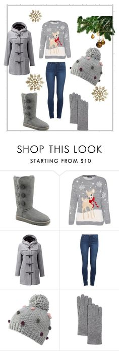 """""""Bez naslova"""" by velida-husic ❤ liked on Polyvore featuring UGG Australia, Gloverall, Paige Denim, Mantaray and C by Bloomingdale's"""